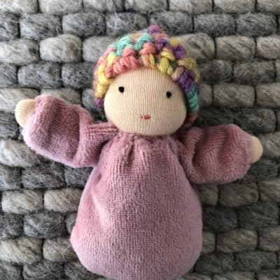 pink cloth doll for toddlers