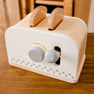 Wooden Play Toaster Set