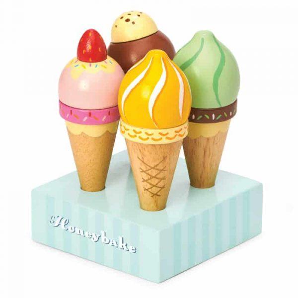 Wooden Ice Cream Lollies Set - Children's Play / Home Corner / Le Toy Van