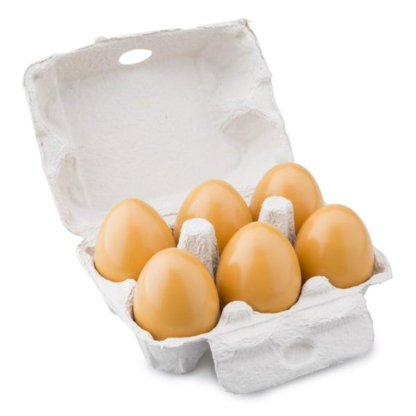Wooden Eggs in Carton for Role Play