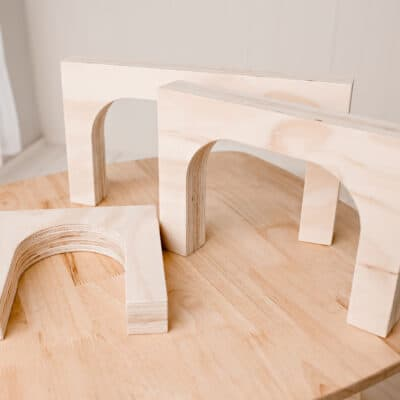 Wood 3 Arches for tunnels and construction