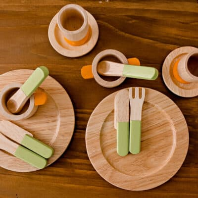 Wooden Dinner Set - I'm Toy - Children's Play