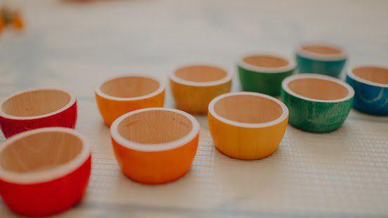 colorful wooden Grapat 12 Bowls
