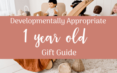 Developmentally Appropriate Gift Guide for 1 year olds