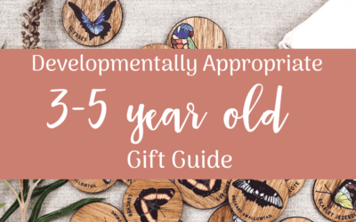 Developmentally Appropriate Gift Guide for 3-5 year olds