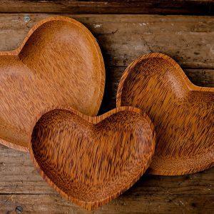Heart Shape Plate Set
