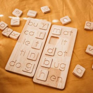 CVC word boards wooden toys