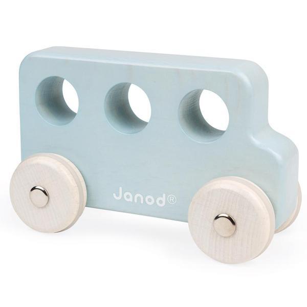 janod wooden blue bus