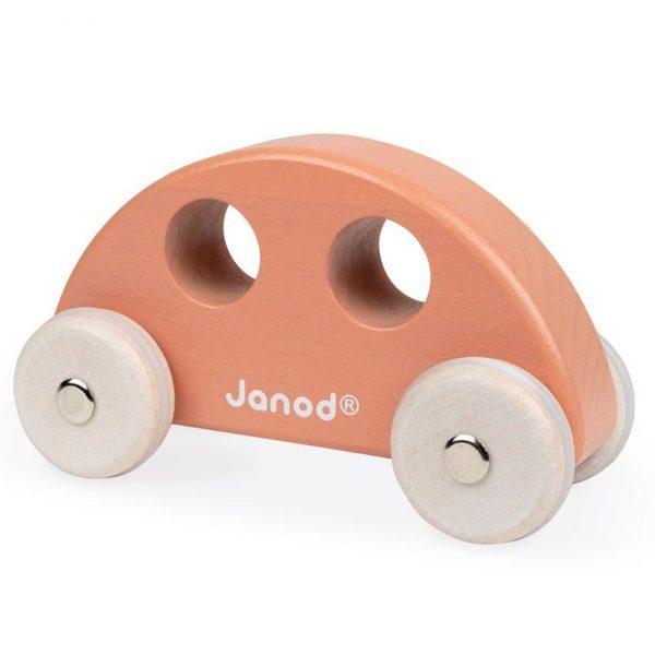 janod wooden orange car