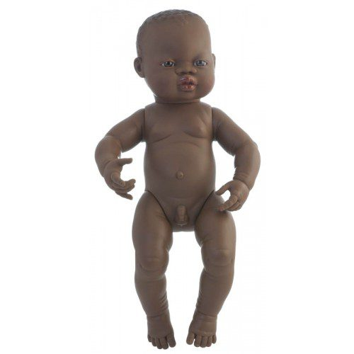 Miniland Doll - Anatomically Correct Baby, African Boy, 40 cm (UNDRESSED)