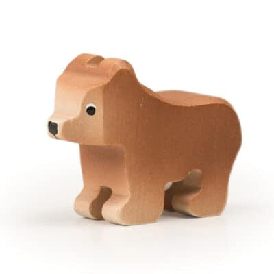 wooden Trauffer Brown Bear