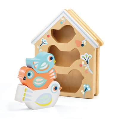 wooden baby bird and house