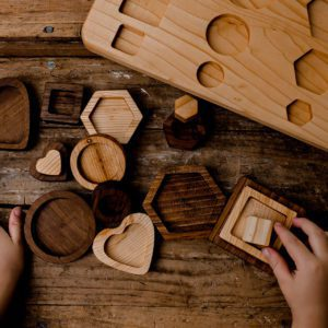 Geometric Walnut Puzzle for learning