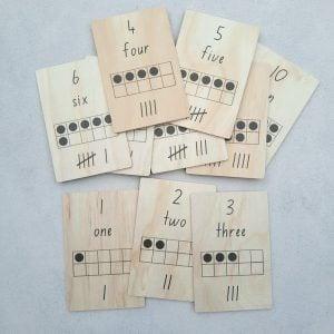Wooden Tens Frame Cards homeschool toys