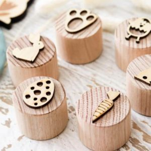 Wooden Easter Stampers play toys