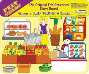 Supermarket Felt Creations for kids play