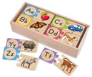 Alphabet Wooden Puzzle Cards for kids