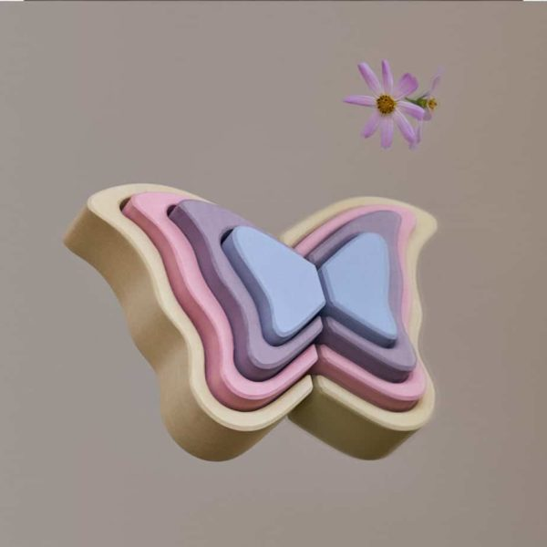 wooden Butterfly Wing child care toys