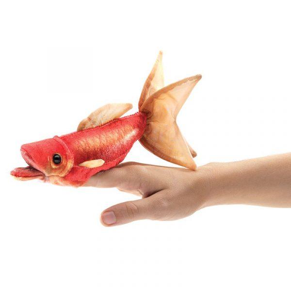 Goldfish Finger Puppet on hand