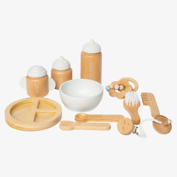 Toy Wooden Doll Accessories Kit
