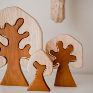 Two Toned Trees (Set Of 3)