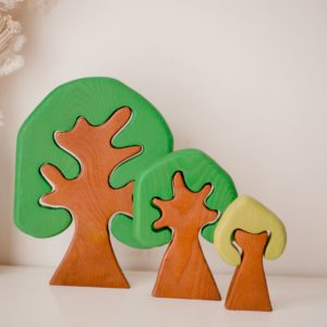 QToys Coloured Wooden Trees For Kids