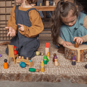 Light Wooden Grapat Nins For Kids